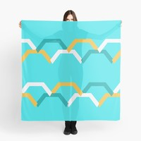 'Teal Steps' Scarf by Space & Lines