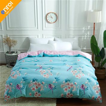1 Piece Duvet Cover with Zipper 100% Cotton Quilt or Comforter or Blanket Case Pastoral Printing