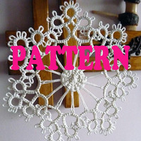 PDF Tatting pattern -Snowflake pattern-frivolite pattern -instant download - shuttle tatting -tutorial PDF-Christmas snowflake pattern