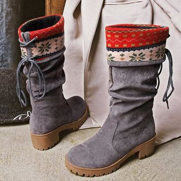 Strappy Folkways Casual Boots