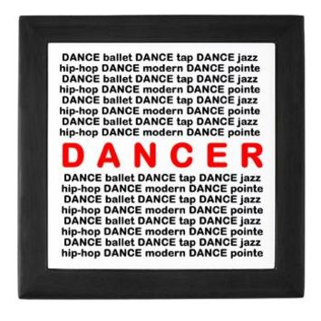 Dancer Block Words Keepsake Box