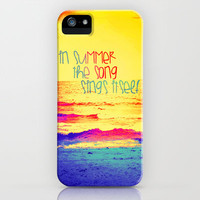 Summer Song iPhone Case by Caleb Troy