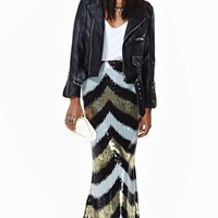 Nasty Gal Party Doll Sequin Maxi Skirt