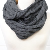 C.C. Knit Solid Infinity Scarf (MORE COLORS)