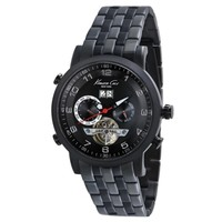Automatic Watch With Black Link Strap