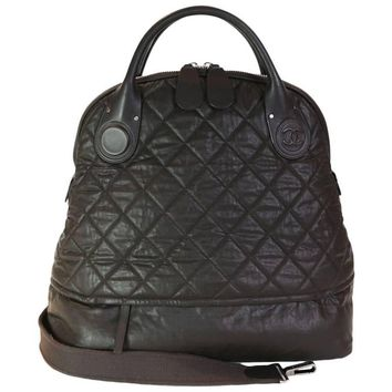 CHANEL Tote Bag in Brown Quilted Leather