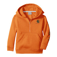 Carhartt Kids Logo Fleece 1/2 Zip Sweatshirt (Infant) Puffin's Bill - Zappos.com Free Shipping BOTH Ways