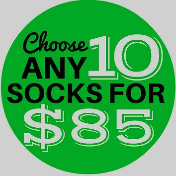 10 Sock Bundle - Men's