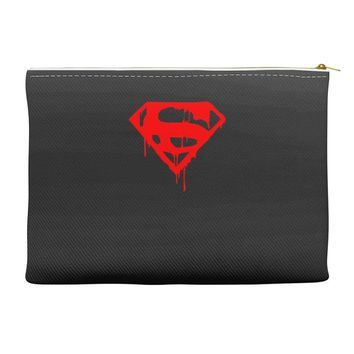 dripping blood superman Accessory Pouches