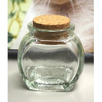 Mini Corked Jars Favor Bottle Keepsake Souvenir, Cookie