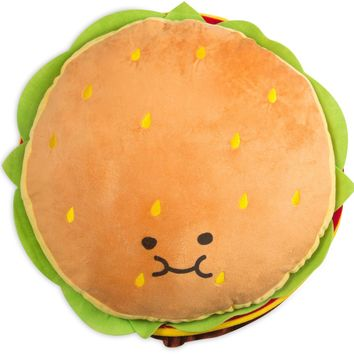 Cheeseburger Shaped Throw Pillow