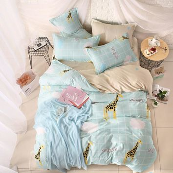 2017 home bedding Duvet cover set super king bedclothes grey flat sheet Adults bedding set 5 size bed linens AB side duvet cover