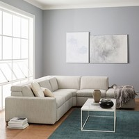 Enzo Reclining 4-Seater Sectional with Storage Ottoman