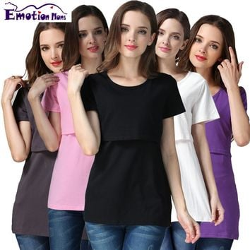 Emotion Moms pregnancy Maternity clothes Maternity Top Nursing top nursing clothing Breastfeeding T-shirt for pregnant women