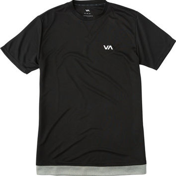 Shop RVCA Runner Mesh S/S Shirt in Athletic Heather   Jack's Surfboards