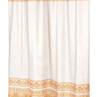 "Royal Bath Fleur Fabric Shower Curtain in Gold Size: 70"" x 72"""