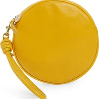 Clare V. Lambskin Leather Circle Clutch | Nordstrom