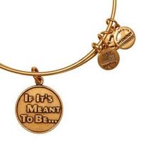 Alex and Ani If It's Meant To Be Expandable Wire Bangle Rafaelian Gold