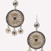 bebe Womens Metal Disc & Coin Earrings Gold