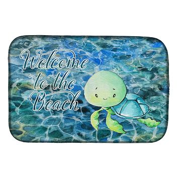 Sea Turtle Welcome Dish Drying Mat BB8520DDM