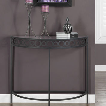 Monarch Specialties Hall Console Accent Table - Grey