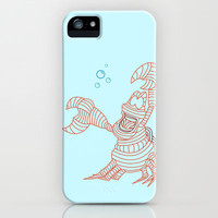 Sebastian - Little Mermiad iPhone & iPod Case by DanielBergerDesign
