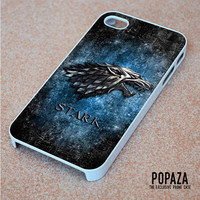 Game of throne Stark clan wolf logo iPhone 4   4S Case Cover