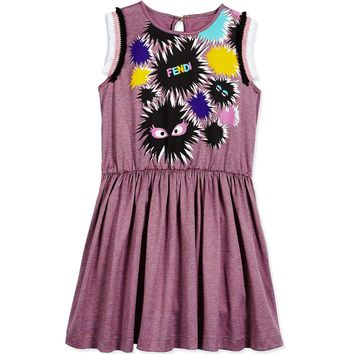 Fendi Girls 'Monster' Sleeveless Dress