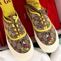 Gucci Yellow 2020 Mickey Disney Mouse Shoes Flat Shoes