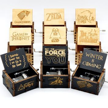 Star Wars Force Episode 1 2 3 4 5 Two Colors  Music Box Game of Thrones Music Box  Music Theme Caixa De Musica A Birthday Present AT_72_6