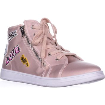 madden girl Cindy High-Top Fashion Sneakers, Blush, 10 US