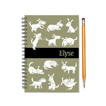 2015-2016 custom planner for dog owner, weekly planner, personalized daily calendar, dog lover gift, 12 months, dog present, SKU: pl dog w