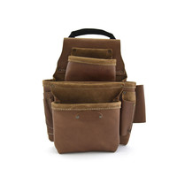 98436 - 8 Pocket Nail and Tool Pouch in Top Grain Leather