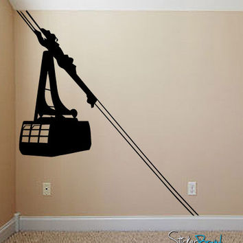 Vinyl Wall Decal Sticker Cable Car #547