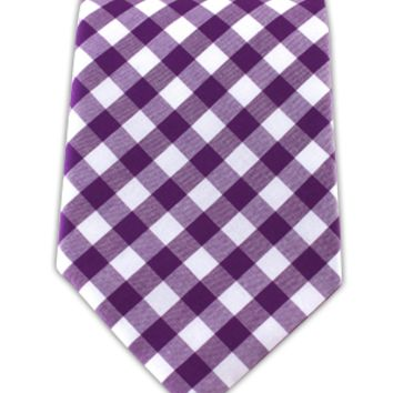 Cotton Table Plaid - Plum (Cotton)   Ties, Bow Ties, and Pocket Squares   The Tie Bar