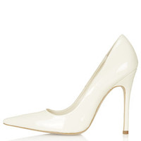 GALLOP Patent Court Shoes - Off White