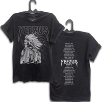 Yeezus Kanyewest T shirt // Yeezus Indian Wes Lang t-shirt Kanye west Shirt // yeezus clothing yeezus tour T shirt