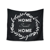 "KESS Original ""Home Sweet Home"" Black White Wall Tapestry"