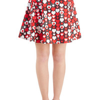 Short Length A-line Sweet Your Heart Out Skirt