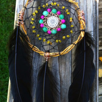 Handmade WireWeaved Tribal Sun Dreamcatcher by GratefullyDreaming