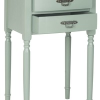Marilyn End Table With Storage Drawers Medium Grey