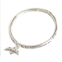 Silvertone Friend's Blessing Inspirational Bracelet