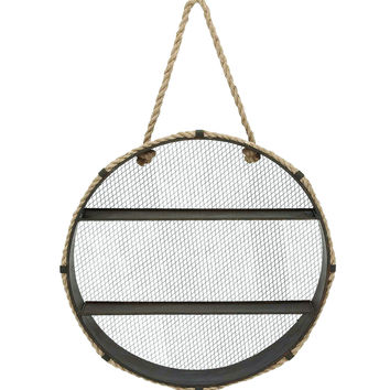 Unique Metal Wall Rope Round Shelf