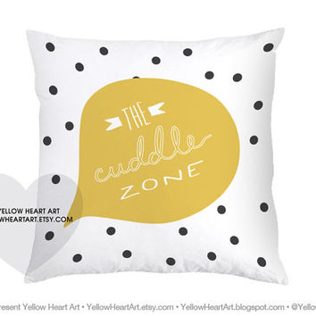 Preorder 16x16 Quot The Cuddle Zone Quot Mustard From