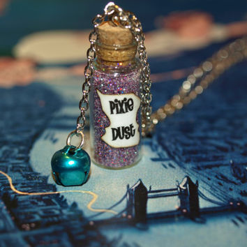 Pixie Dust Magical Necklace with a Tinkling by LifeistheBubbles
