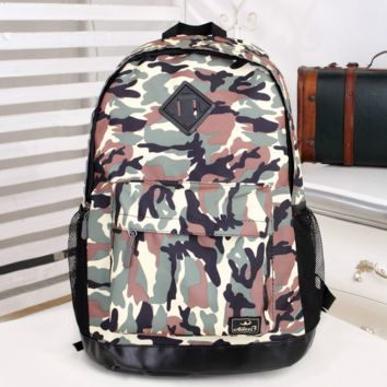 Large Camo Travel Bag Canvas Lightweight Casual Backpack
