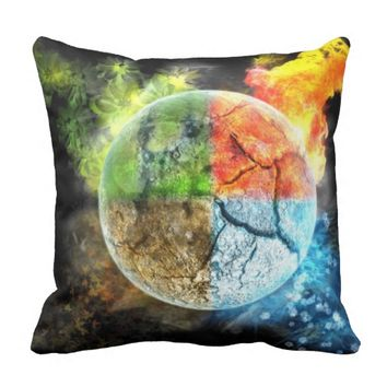 Earth Seasons Throw Pillow