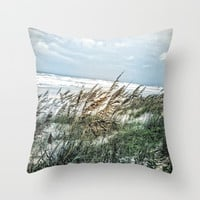 Florida Sand Dunes Throw Pillow by Digital Effects