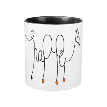 Happy Camel Callygraphy Mug