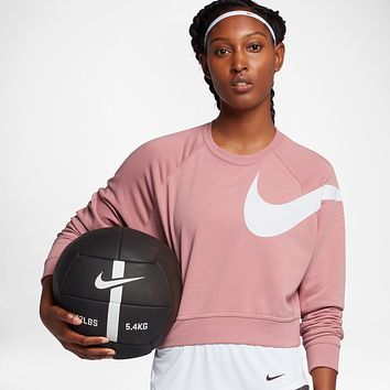 NIKE Women Fashion Sport Scoop Neck Top Sweater Pullover